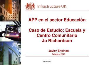 APP en el sector Educación Caso de Estudio: Escuela y Centro Comunitario  Jo Richardson