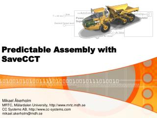 Predictable Assembly with SaveCCT