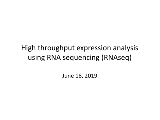 Analysis of Gene  Expression in Bacteria