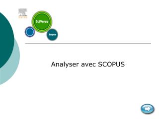 Analyser avec SCOPUS