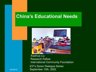 China's Educational Needs