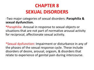 CHAPTER  8 SEXUAL DISORDERS