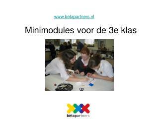 Minimodules voor de 3e klas