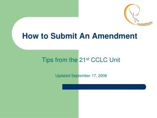 How to Submit An Amendment