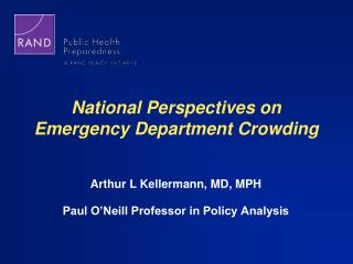 National Perspectives on  Emergency Department Crowding