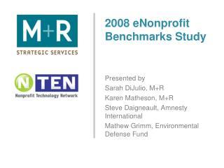 2008 eNonprofit Benchmarks Study