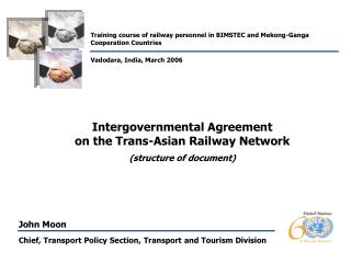 Chief, Transport Policy Section, Transport  and  Tourism Division