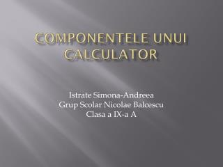COMPONENTELE UNUI CALCULATOR