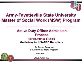 Army-Fayetteville State University Master of Social Work (MSW) Program