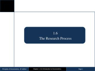 1.6  The Research Process