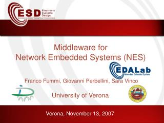 Middleware for Network Embedded Systems (NES)