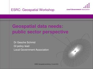 ESRC: Geospatial Workshop