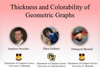 Thickness and Colorability of Geometric Graphs