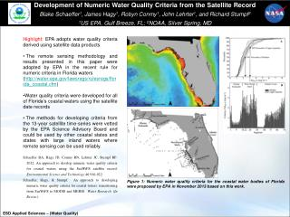 Highlight:  EPA adopts water quality criteria derived using satellite data products