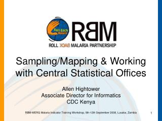Sampling/Mapping & Working with Central Statistical Offices