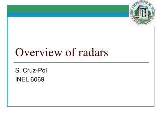 Overview of radars