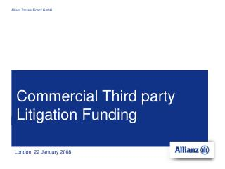 Commercial Third party Litigation Funding