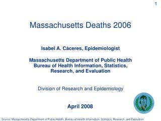 Massachusetts Deaths 2006