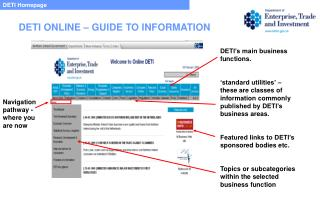 DETI Homepage