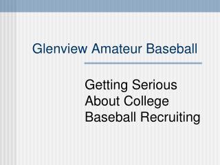 Glenview Amateur Baseball