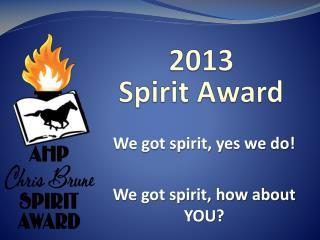 2013  Spirit Award