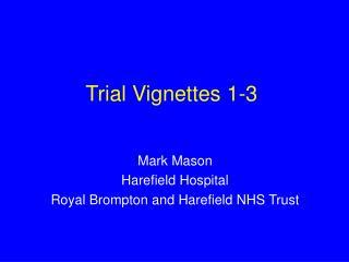 Trial Vignettes 1-3