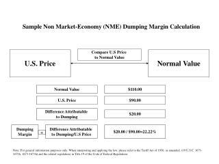 Sample Non Market-Economy (NME) Dumping Margin Calculation