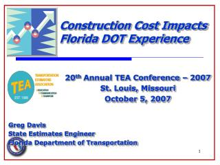 Construction Cost Impacts Florida DOT Experience