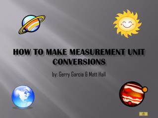 How to  make measurement unit conversions