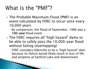 "What is the ""PMF""?"