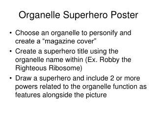 Organelle Superhero Poster