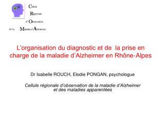 L'organisation du diagnostic et de  la prise en charge de la maladie d'Alzheimer en Rhône-Alpes