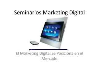 Seminarios Marketing Digital