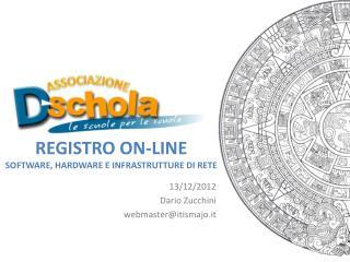Registro On-Line Software , hardware e infrastrutture di  rete