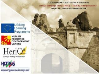 HeriQ and  LLIGHT on Heritage