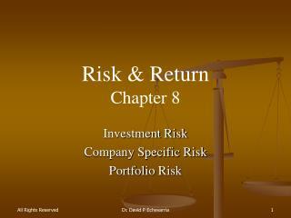 Risk & Return Chapter  8