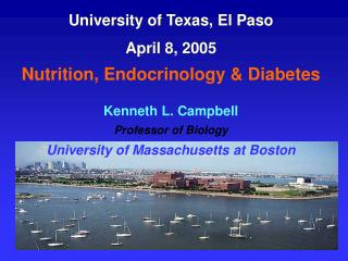 University of Texas, El Paso April 8, 2005  Nutrition, Endocrinology & Diabetes