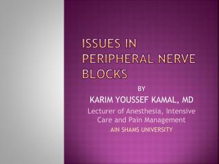 ISSUES IN PERIPHERAL NERVE BLOCKS