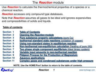 The  Reaction  module