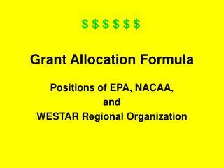 Grant Allocation Formula