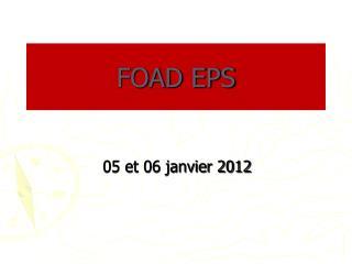 FOAD EPS