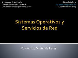 Sistemas Operativos y Servicios de Red