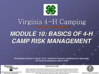 Virginia 4-H Camping Volunteer Training Modules