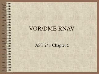VOR/DME RNAV