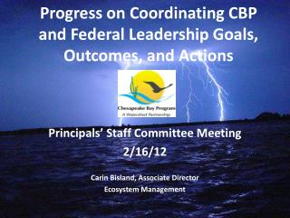 Progress on Coordinating CBP and Federal Leadership Goals, Outcomes, and Actions