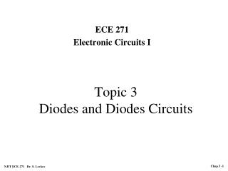 Topic 3 Diodes and Diodes Circuits