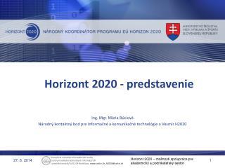 Horizont 2020 - predstavenie