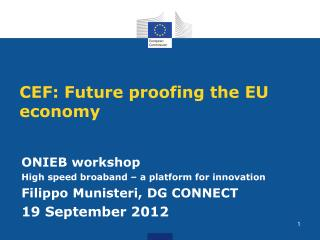 CEF: Future  proofing the  EU  economy