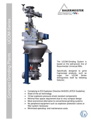 Compact Grinding Plants        UCOM-Series