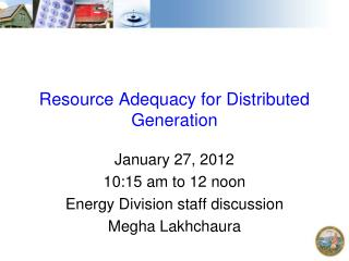 Resource Adequacy for Distributed Generation